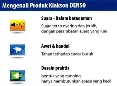 Spesifikasi KLAKSON DENSO DISC